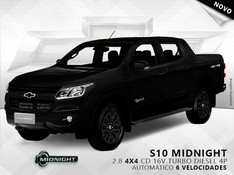 CHEVROLET S10 MIDNIGHT 4X4 CD 16V TURBO DIESEL 4P AUTOMÁTICO 2.8 2019