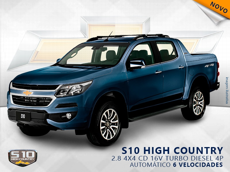 CHEVROLET S10 HIGH COUNTRY 4X4 CD 16V TURBO DIESEL 4P AUTOMÁTI 2.8 2019